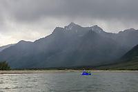 Packrafting the North Fork, Koyukuk River, Gates of the Arctic National Park, Brooks Range, Alaska.