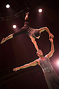 London, UK. 15.05.2015. LIMBO, a mix of cabaret, circus and acrobatics, opens at the London Wonderground at Southbank Centre. Picture shows: Danik Abishev and Hilton Denis. Photograph © Jane Hobson.