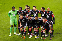 D. C. United starting eleven. D. C. United defeated the New York Red Bulls 1-0 (2-1 in aggregate) during the second leg of the MLS Eastern Conference Semifinals at Red Bull Arena in Harrison, NJ, on November 8, 2012.