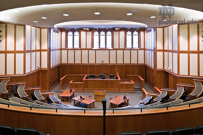 Courtroom of the Eck Hall of Law..Photo by Matt Cashore/University of Notre Dame