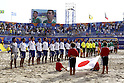Two team group line-up,SEPTEMBER 2, 2011 - Beach Soccer :FIFA Beach Soccer World Cup Ravenna/Italy 2011, Group D match between Japan 2-3 Mexico at Stadio del Mare in Marina di Ravenna, Ravenna, Italy. (Photo by Wataru Kobayakawa/AFLO)