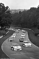Bobby Rahal (#9) drives a Porsche 935 during a parade lap for the 1980 IMSA race at Road America near Elkhart Lake, Wisconsin.