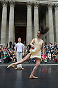 London, UK. 28/06/2011.  Students from the Central School of Ballet perform in front of St Paul's Cathedral, as part of the City of London Festival. Photo credit should read Jane Hobson