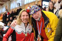 SPEEDSKATING: BERLIN: Sportforum Berlin, 28-01-2017, ISU World Cup, Ted-Jan Bloemen (CAN), Wicher Soek, ©photo Martin de Jong