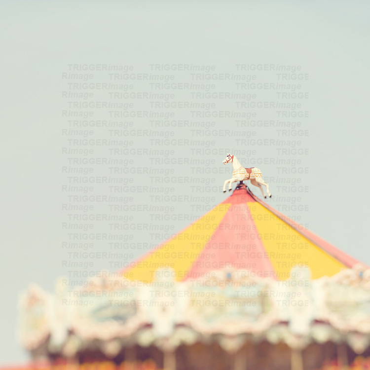 Top of a vintage carousel