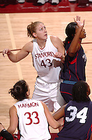 13 November 2005: Kristen Newlin during Stanford's 92-65 win over Love and Basketball at Maples Pavilion in Stanford, CA.