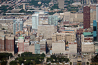 aerial photograph South Michigan Avenue, Chicago, Illinois