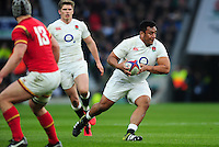 Mako Vunipola of England in possession. RBS Six Nations match between England and Wales on March 12, 2016 at Twickenham Stadium in London, England. Photo by: Patrick Khachfe / Onside Images