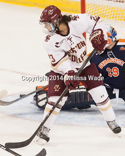 Andie Anastos (BC - 23) - The Boston College Eagles defeated the visiting Syracuse University Orange 10-2 on Saturday, October 4, 2014, at Kelley Rink in Conte Forum in Chestnut Hill, Massachusetts.