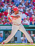 23 May 2015: Philadelphia Phillies infielder Maikel Franco at bat against the Washington Nationals at Nationals Park in Washington, DC. The Phillies defeated the Nationals 8-1 in the second game of their 3-game weekend series. Mandatory Credit: Ed Wolfstein Photo *** RAW (NEF) Image File Available ***