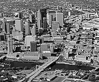 aerial photograph Minneapolis, Minnesota and Mississippi river