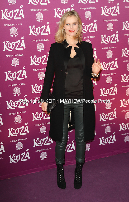 """London  - VIP Night for Cirque du Soleil's new production, """"Kooza"""" at the Royal Albert Hall, London - January 8th 2013..Photo by Keith Mayhew."""