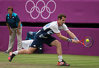 Andy Murray - Great Britain..Tennis - OLympic Games -Olympic Tennis -  London 2012 -  Wimbledon - AELTC - The All England Club - London - Friday 29th June  2012. .© AMN Images, 30, Cleveland Street, London, W1T 4JD.Tel - +44 20 7907 6387.mfrey@advantagemedianet.com.www.amnimages.photoshelter.com.www.advantagemedianet.com.www.tennishead.net