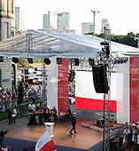 WARSAW, POLAND, JULY 2, 2010:.Jaroslaw Kaczynski on his presidential campaign rally in central Warsaw..(Photo by Piotr Malecki / Napo Images)..WARSZAWA, 2/07/2010:.Kampania wyborcza Jaroslawa Kaczynskiego. Spotkanie z wyborcami w centrum Warszawy kolo placu Pilsudskiego. .Fot: Piotr Malecki / Napo Images.