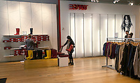 An almost empty Esprit clothing store on Fifth Avenue in New York on Thursday, February 23, 2012 prior to closing at the end of the week. Esprit announced that it will be shutting its North American stores as it puts it resources into the Asian and Chinese markets. (© Richard B. Levine)