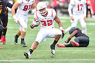 College Park, MD - NOV 26, 2016: Rutgers Scarlet Knights running back Justin Goodwin (32) breaks free for a touchdown during game between Maryland and Rutgers at Capital One Field at Maryland Stadium in College Park, MD. Maryland defeated Rutgers 31-13. (Photo by Phil Peters/Media Images International)