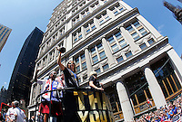 New York City, NY., - Friday, July 10, 2015: The US Women's National Soccer team celebrate their 2015 FIFA World Cup victory with a ticker tape parade along Broadway's The Canyon of Heroes.