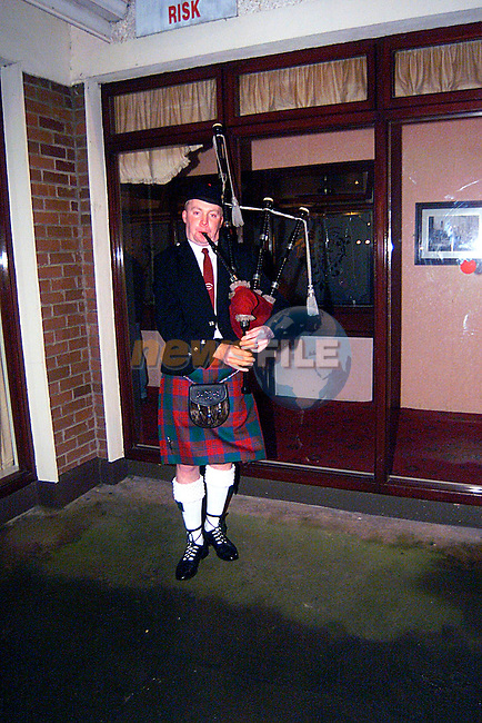 A Scottsh Pipper at the Wedding Fayer in the Glenside Hotel...Pic Tony Campbell/Newsfile