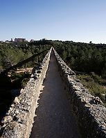 The ?Ferreres? Aqueduct; I Century AD, Tarragona (Tarraco, Hispania Citerior), Catalonia, Spain; 217 metres long and maximum height of 27 meters; located on the left bank of the River Francolí, about 4 km from the town, it carried the water to the town.
