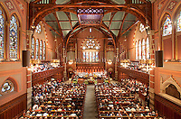 Easter service at Old South Church, Boston, MA (Cummings & Sears = architects, 1873)  Ruskinian Gothic
