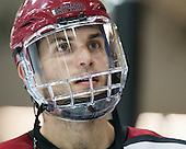 David Valek (Harvard - 23) - The Harvard University Crimson honored their seniors following their final home game of the regular season on Saturday, February 22, 2014 at the Bright-Landry Hockey Center in Cambridge, Massachusetts.