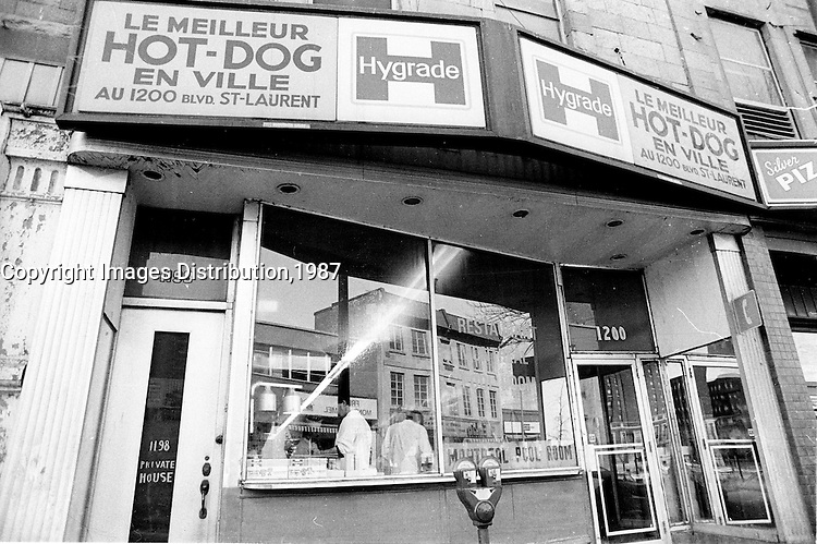 Montreal (QC) Canada- 1987 File Photo -