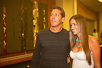 """Andy Irons (HAW) and wife Lyndie  COOLANGATTA, Queensland/Australia (Thursday, February 25, 2010) - . - The ASP World Champions' Crowning took place tonight at the Gold Coast Convention and Exhibition Centre beginning at 6:30pm.. .Surfing's """"night of nights"""", the ASP World Champions' Crowning, was a gala event, hosting the world's best surfers as well as distinguished figures from the surfing industry in honour of the 2009 ASP World Champions.. .Mick Fanning (AUS), accepted his second ASP World Champion trophy,  just days before beginning his title defence at his home break of Snapper Rocks, the location of the upcoming Quiksilver Pro Gold Coast .. .Stephanie Gilmore (AUS), 22, reigning three-time ASP Women's World Champion, received her third consecutive ASP Women's World Title cup, and the young natural-footer will soon embark on a campaign to make it a four-peat in 2010. No other surfer in the history of the sport has won three world title from three attempts. Gilmore won her first title in her Rookie year on tour and has won back to back titles since then. Gilmore will begin this weekend at the opening event of the 2010 ASP Women's World Tour season, the Roxy Pro Gold Coast. . .Other ASP Dream Tour athletes  recognised were respective Men's and Women's Runner-Ups Joel Parkinson (AUS),  and Silvana Lima (BRA),  as well as Rookies of the Year Kekoa Bacalso (HAW) and Coco Ho (HAW).. .Harley Ingleby (AUS) and Jennifer Smith (USA) took out the ASP World Longboarding and ASP Women's World Longboarding Titles respectively, while Dan Ross (AUS), and Coco Ho (HAW)  took home hardware for their respective No. 1 finishes on the ASP World Qualifying Series last season...The Men's and Women's World Junior Champions trophies were awarded to Maxime Huscenot (FRA) and Laura Enever (AUS) while ASP  Lifetime Membership was awarded to Layne Beachley (AUS).. .In addition to honouring the champions from 2009, the ASP World Champions' Crowning also recognised athletes who  earnt the"""