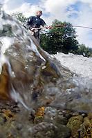 River Orkla, Rennebu, Norway<br /> Flyfishing<br /> Model name: Stefan Enevoldsen-Model release form valid by photographer