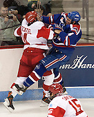Jake Moscatel (BU - 14), Joe Houk (UML - 4) - The visiting University of Massachusetts Lowell River Hawks defeated the Boston University Terriers 3-0 on Friday, February 22, 2013, at Agganis Arena in Boston, Massachusetts.