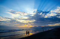 Santa Monica Beach amid the sunset on Sunday, July 14, 2013. #santamonica, #beach, #California
