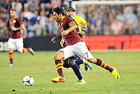 Sporting Park, Kansas City, Kansas, July 31 2013:<br /> Marquinho (7) AS Roma in action.<br /> MLS All-Stars were defeated 3-1 by AS Roma at Sporting Park, Kansas City, KS in the 2013 AT &amp; T All-Star game.