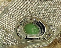 Oakland-Alameda County Coliseum  filled for Oakland A's game 1968 photo.(photo/Ron Riesterer)