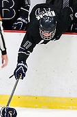 Alex Kubiak (Bentley - 17) - The Harvard University Crimson defeated the visiting Bentley University Falcons 5-0 on Saturday, October 27, 2012, at Bright Hockey Center in Boston, Massachusetts.