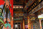 Bao-jhong Yi-min Temple, Kaohsiung -- Entrance to the temple from the inside courtyard.