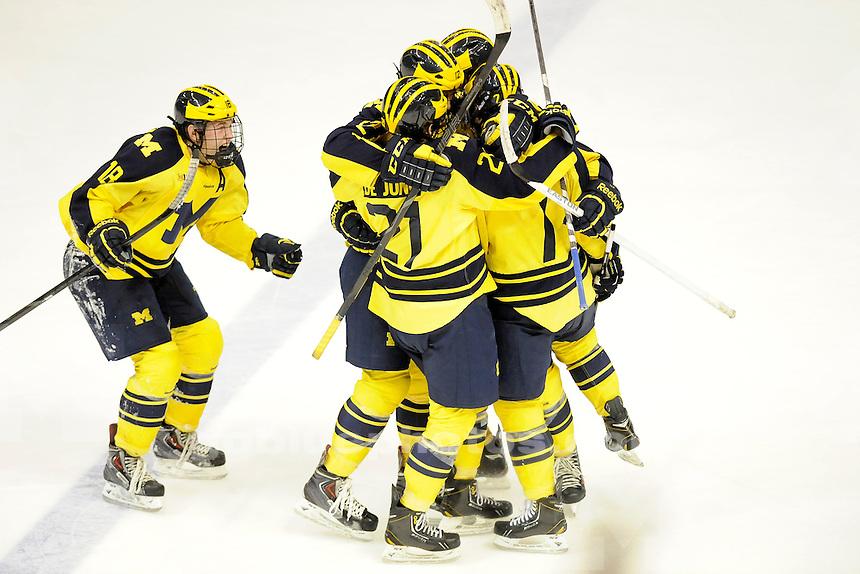 Michigan vs. Michigan State University, College Hockey Night at The Joe, Thursday, January 23, 2014.