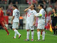 FUSSBALL   1. BUNDESLIGA  SAISON 2011/2012   27. Spieltag FC Bayern Muenchen - Hannover 96       24.03.2012 Lars Stindl , Manuel Schmiedebach, Steven Cherundolo (v. li., Hannover 96)