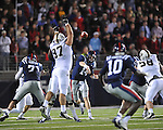 Ole Miss quarterback Bo Wallace (14) vs. Vanderbilt at Vaught-Hemingway Stadium in Oxford, Miss. on Saturday, November 10, 2012.