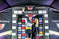 Picture by Simon Wilkinson/SWpix.com - 16/05/2017 - Cycling - Tour Series Round 4, Wembley - Raleigh GAC's Sebastian Mora keeps the overall lead in the Tour series.