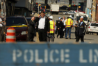One of three construction workers died and the others have been left injured after a Manhattan building collapse  in New York, United States. 22/03/2012.  Photo by Kena Betancur / VIEWpress.