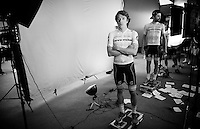 Rigoberto Uran (COL/Cannondale) being 'videographed' ahead of the Grande Partenza in Apeldoorn (NLD): team presentation of the 99th Giro d'Italia 2016 on the evening before the 1st stage