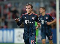 FUSSBALL   CHAMPIONS LEAGUE   SAISON 2013/2014   Vorrunde FC Bayern Muenchen - FC Viktoria Pilsen       23.10.2013 JUBEL FC Bayern Muenchen; Torschuetze zum 5-0 Mario Goetze