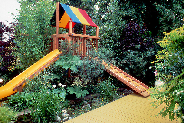 Backyard play area plant flower stock photography - Garden design children s play area ...