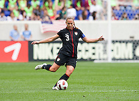 Christie Rampone. The USWNT defeated Mexico, 1-0, during the game at Red Bull Arena in Harrison, NJ.