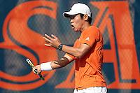 SAN ANTONIO, TX - OCTOBER 14, 2016: The University of Texas at San Antonio Roadrunners Men's Tennis Team competes in the UTSA Cup at the UTSA Tennis Center. (Photo by Jeff Huehn)