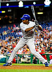 23 April 2010: Los Angeles Dodgers' left fielder Garret Anderson in action against the Washington Nationals at Nationals Park in Washington, DC. The Nationals defeated the Dodgers 5-1 in the first game of their 3-game series. Mandatory Credit: Ed Wolfstein Photo
