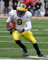November 22, 2008. Michigan wide receiver Martavious Odoms. The Ohio State Buckeyes defeated the Michigan Wolverines 42-7 on November 22, 2008 at Ohio Stadium, Columbus, Ohio.