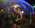 Megan Serbus dances with a hula hoop at Old Crow Medicine Show plays the Double Decker Arts Festival in Oxford, Miss. on Friday, April 29, 2011.