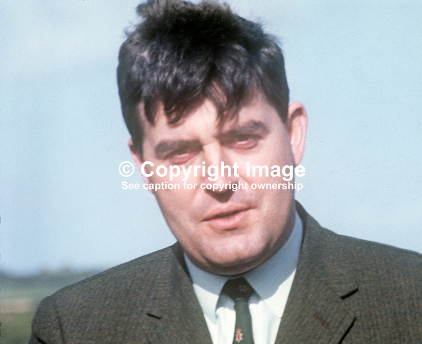 John Taylor, Ulster Unionist politician, MP, Minister of State, Ministry of Home Affairs, N Ireland Parliament, Belfast, UK, August 1970. 197008000298<br /> <br /> Copyright Image from Victor Patterson, 54 Dorchester Park, Belfast, UK, BT9 6RJ<br /> <br /> t1: +44 28 9066 1296 (from Rep of Ireland 048 9066 1296)<br /> t2: +44 28 9002 2446 (from Rep of Ireland 048 9002 2446)<br /> m: +44 7802 353836<br /> <br /> e1: victorpatterson@me.com<br /> e2: victorpatterson@gmail.com<br /> <br /> The use of any of my copyright images is subject to my Terms &amp; Conditions. It is IMPORTANT that you familiarise yourself with them. They are available at my website, victorpatterson.com.<br /> <br /> None of my copyright images may be used on the Internet unless they are visibly watermarked, i.e. &copy; Victor Patterson within the body of the image. My metadata, denoting my copyright must NOT be deleted. <br /> <br /> Web use is extra at currently recommended NUJ rates. Maximum permitted web size is<br />  400kb. <br /> <br /> Images must not be passed on to a third party - they are for the use of the authorised recipient only.