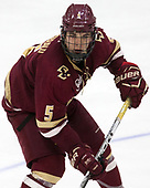 Casey Fitzgerald (BC - 5) - The Harvard University Crimson defeated the visiting Boston College Eagles 5-2 on Friday, November 18, 2016, at Bright-Landry Hockey Center in Boston, Massachusetts.{headline] - The Harvard University Crimson defeated the visiting Boston College Eagles 5-2 on Friday, November 18, 2016, at Bright-Landry Hockey Center in Boston, Massachusetts.
