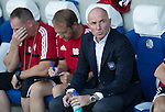 FC Luzern v St Johnstone...17.07.14  Europa League 2nd Round Qualifier<br /> FC Luzern boss Carlos Bernegger looks on<br /> Picture by Graeme Hart.<br /> Copyright Perthshire Picture Agency<br /> Tel: 01738 623350  Mobile: 07990 594431